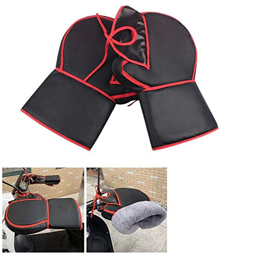 evergreemi Grip Guanti Moto, Moto Manubrio della Bici Muffs Grip, Winter Warmer Impermeabili Guanti Antivento Guanti per Gli Uomini Do