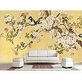 3d wallpaper foto wallpaper, soggiorno murale fiore e uccello pittura cinese divano TV sfondo non tessuto, adesivo da parete 280 cm (L) x 180 cm (A)