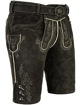 Michaelax-Fashion-Trade Spieth & Wensky - Herren Trachten Lederhose mit Gürtel, Alex (240471-0613)