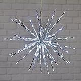 Silberner Twigball Ø 45 cm, 160 Leds kaltweiß, Blitzlicht-Effekt, Weihnachtsdeko, Weihnachtsstern, Weihnachtsbeleuchtung, Lichterball
