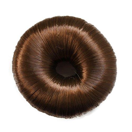 Knotenringe Knotenrolle Haarknoten Dutt Donut Bun Up Do Div. Farben (hellbraun)