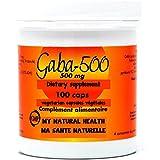 GABA 500 mg-100 capsules-symptômes comme l'anxiété, le côlon irritable, l'irritation, les insomnies, l'énervement...