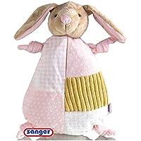 Schnuffel-Hase, 0,8 L Wärmflasche, kuschelweich, Reißverschluss, rose preisvergleich bei billige-tabletten.eu