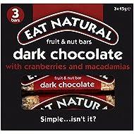 Eat Natural Chocolate Negro Con Arándanos Y Nueces De Macadamia Bares (3X45g)