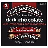 Eat Natural Chocolate Negro Con Arándanos Y Nueces De Macadamia Bares (3X45g) (Paquete de 6)