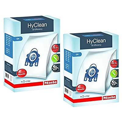 Miele GN Vacuum Hoover Bags - Complete C2 C3 Cat & Dog Powerline Silence Ecoline Genuine Original Hyclean + Filters (1 Box, 2 Boxes, 3 Boxes + Air Fresheners)