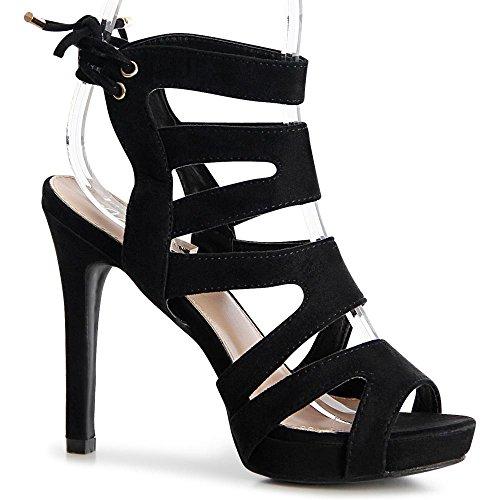 topschuhe24 , Sandales pour femme Noir