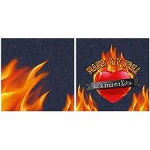 Servilleta para Dich, servilletas 20unidades de 33x 33–Servilletas de papel Muñeco con barbacoa sucht Mujer con carbón