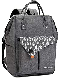 Lekesky Rucksack Damen für Schule Uni Reisen Freizeit Job mit Laptopfach & Anti Diebstahl Tasche