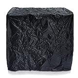 Ampio telo copri griglia - Nero 145 x 115 x 65 cm - Stabile copertura per proteggere barbecue di ogni tipo