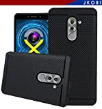 Jkobi 360* Protection Premium Dotted Designed Soft Rubberised Back Case Cover For Huawei Honor 6X -Black