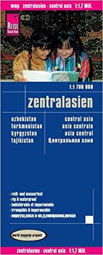 Reise Know-How Landkarte Zentralasien (1:1.700.000) : Usbekistan, Kirgisistan, Turkmenistan und Tadschikistan: world mapping project
