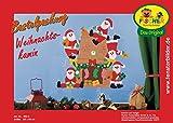 Fischer Fensterbild WEIHNACHTSKAMIN / Bastelpackung / Größe: ca. 55x55 cm / zum Selberbasteln / Basteln zu Weihnachten aus Papier und Pappe