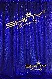 ShinyBeauty Pailletten Fotografie Hintergrund 4x 2,1Glitz Party Pailletten Foto Booth Sparkly Hochzeit Pailletten Fotografie Pailletten Vorhang, königsblau, 8FTx8FT