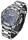 FIREFOX DESTROYER FFS01-103 blau Chronograph massiv Edelstahl Sicherheitsschließe Herrenuhr Armbanduhr 10 ATM Prüfdruck