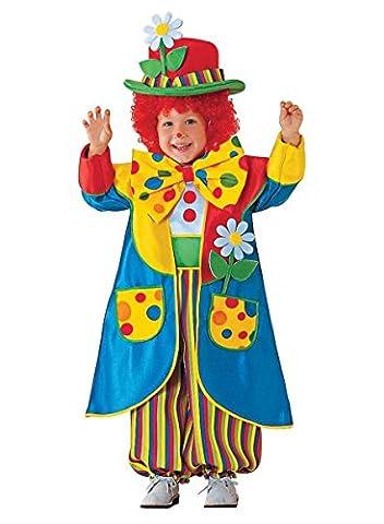 Premium Clown-Kostüm für Kinder mit Hut, Jacke und Fliege | Hochwertiges Karnevals-Kostüm / Faschings-Kostüm / Kinderkostüm | Perfekte Zirkus-Clown Verkleidung für Karneval, Fasching, Fastnacht (Größe: