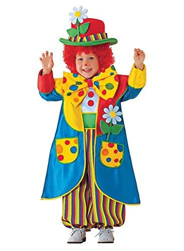 Premium Clown-Kostüm für Kinder mit Hut, Jacke und Fliege | Hochwertiges Karnevals-Kostüm / Faschings-Kostüm / Kinderkostüm | Perfekte Zirkus-Clown Verkleidung für Karneval, Fasching, Fastnacht (Größe: 104)