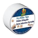 Shurtech Dry Erase Duck-Tape, Trocken abwischbares Klebeband, 1,7 mx 13,7 m, weiß