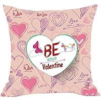 """Día de San Valentín funda de almohada, hmlai San Valentín Amor Lino y algodón manta decorativa Funda para cojín cintura funda de almohada de decoración para el hogar regalo aniversario noviazgo, 18""""x18"""", do"""