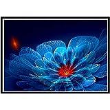 Diamant Painting Bunt Elegante Blume 5D Stickerei Malerei Gemälde Strass Eingefügt DIY Diamant Malerei Kreuzstich Wand-Dekor für Zuhause Wohnzimmer Festliche Decor Zeichnung 40 x 30 cm