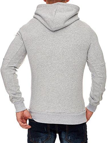 5f76fe87b56c TAZZIO Herren Styler Sweatshirt mit Kapuze Pullover Hoodie 1225 Grau ...