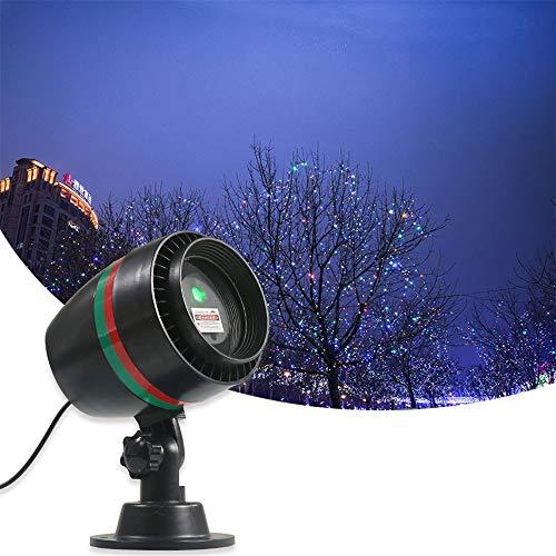 YLOVOW Projektor Lights Outdoor, Outdoor Landschaft Scheinwerfer LED Projektor Show für Weihnachtsgarten Dekorationen Halloween Urlaub Party Hochzeit Rasen Dekoration