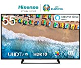 HISENSE H55BE7200 TV LED Ultra HD 4K, HDR, Dolby DTS, Single Stand Slim Design, Smart TV VIDAA U3.0 AI, Triple Tuner