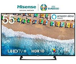 Hisense H55BE7200 138 cm (55 Zoll) Fernseher (4K Ultra HD, HDR, Triple Tuner, Smart-TV, Mittelfuß)
