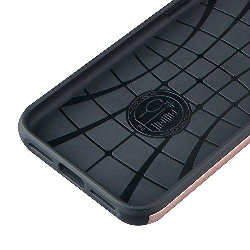 iPhone X 10 Hülle ZaPro® Deutschland Qualitätsgeprüft – mit einem einzigartigen Fach zum Verstauen von Karten | Metall-Design | Stabil & Perfekt Passgenau | Praktisch | Elegante Designs (Gold) Rosé-Gold