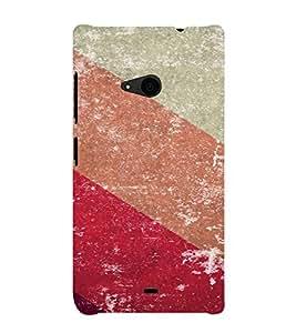 PrintVisa Colorful Stripes Pattern 3D Hard Polycarbonate Designer Back Case Cover for Nokia Lumia 535