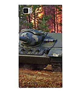 For Xiaomi Mi3 :: Xiaomi Mi 3 Cartoon, Blue, Cartoon and Animation, Fighter Tank on Battelfield, Printed Designer Back Case Cover By CHAPLOOS