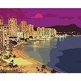 YKCKSD Puzzle 1000 Pezzi Immagine della Spiaggia di Hawaii Beach City Beach View per Il Soggiorno
