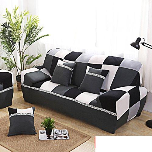 Vier Sitz-stoff Sofa (NS&SBZZ Möbel-Protector Shield,Einfache Moderne sofabezug All-Inclusive-Stretch Sofa Handtuch Sommerbezug universal Vier Jahreszeiten Stoff-Leder-Sofa-Decke Sofa-Sets-E Vier Sitze(91 * 118inch))