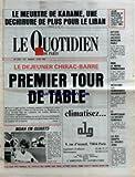 QUOTIDIEN DE PARIS (LE) [No 2341] du 02/06/1987 - LE MEURTRE DE KARAMA AU LIBAN - LE DEJUENER CHIRAC - BARRE - ALAIN MADELIN - AFFAIRE FRATONI - J. MEDECIN PARLE - LE SIDA - LEREPAS SYMBOLIQUE - LA SOCIETE GENERAL - LE DOUBLE ZERO - NOAH EN QUARTS.