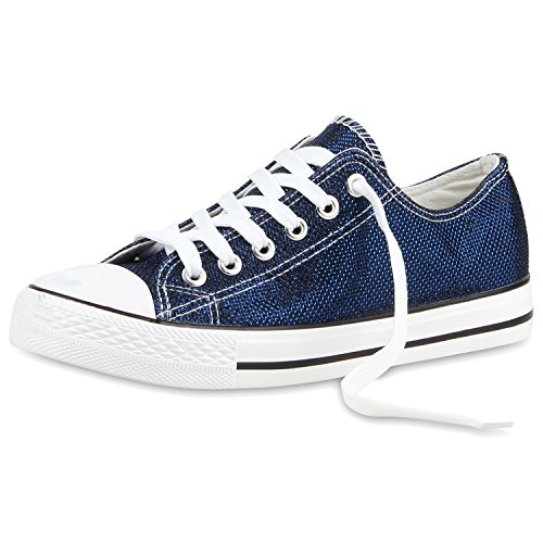Sneakers best-boots da donna scarpe da ginnastica atletica scarpe Cords Slipper Dunkelblau Nuovo