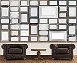 empireposter Creative Collage Bilderrahmen Foto-Tapete 64-teilig - Fototapete Wallpaper. Beigelegt sind eine Packung Kleber und eine Klebeanleitung.