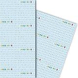 Cooles Einschulungs Geschenkpapier mit Alphabet