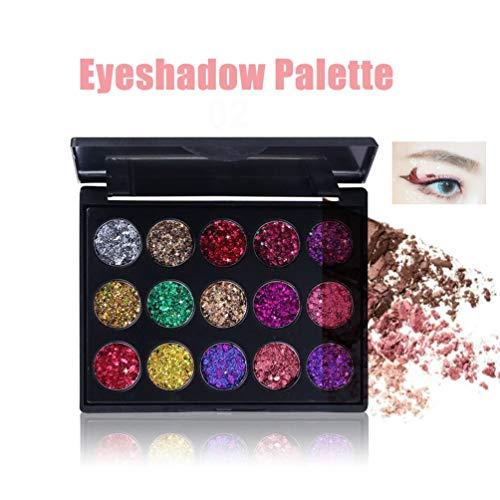 51dz684OKpL - Deniseonuk Sombra de Ojos de 15 Colores Sombra de Ojos de albañilería Sombra de Ojos de 2 Colores