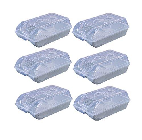 Big belly - storage CSQ Schuh-Aufbewahrungsbehälter Plastikschuh-Kasten-Aufbewahrungsbehälter-Schlafsaal-Raum-Speicher-staubdichter Schuh-Kasten 37.5 * 22.5 * 12.5CM Box und Korb -