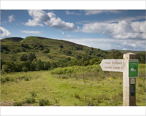 photographic-print-of-sign-for-a-footpath-to-darden-lough