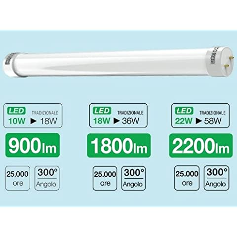 Lampe Typ Neon LED Ecolight T8Leuchtstoffröhre 10W–6500K–900Lumen–Länge