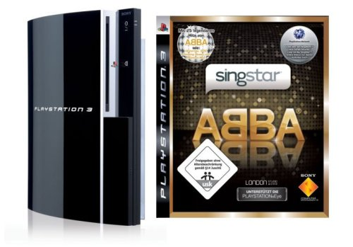 Playstation 3 - Konsole 80 GB inkl. Dual Shock 3 Wireless Controller + SingStar ABBA und 2 Mikrofone (Singstar Wireless Mikrofone)