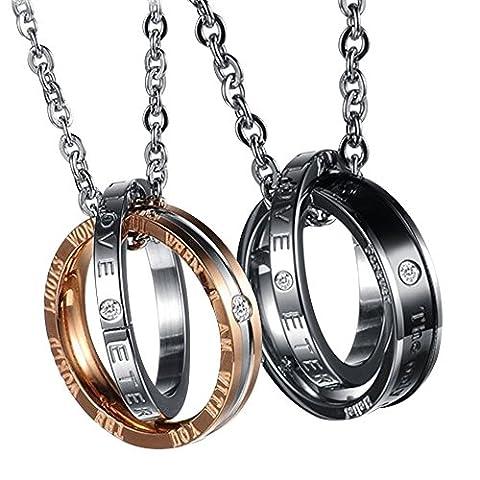 Schmuck Edelstahl Halskette Ring Anhänger mit Gravur