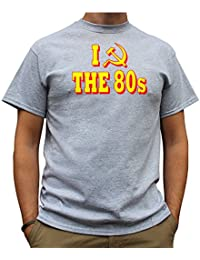 Nutees I Love 80's Fancy Dress Costume Party Funny Mens T Shirt - Sports Grey
