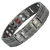 MPS® Titan 4 Elements magnetische Armband für Männer, Mit leistungsstarke 3000 Gauß Magneten - Mit Einer Kostenlosen Tool, um Links zu entfernen - Mit gratis Geschenk Beutel