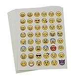 Veroda 20 Blätter gestanzte Emoji-Aufkleber für Telefon- und Laptop-Dekoration