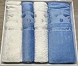DURUL Home Textil Luxus Sauna Set 4-Teilig (70% Bambus/30% Baumwolle)