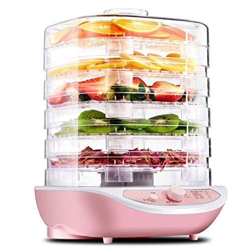 Ann Deshidratador Digital pequeño para Alimentos con Temperatura Ajustable de 40-70 ° C, bajo Consumo de energía y fácil Limpieza, 5 bandejas apilables, Rosa