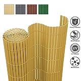 wolketon Canniccio PVC Recinzione paravista/bambù 160x400cm/ per Giardino Balcone Terrazza Piscine/Durevole Impermeabile Anti-UV