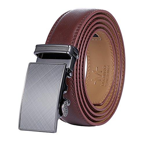 marino-avenue-cintura-uomo-gunblack-silver-matte-buckle-with-brown-leather-personalizzato-fino-a-44-